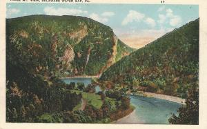 Three Mt. View, Delaware Water Gap, PA,  Early Postcard, Unused