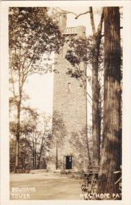 RP: NEW HOPE, Pennsylvania , 1910-20s ; Bowman´s Tower