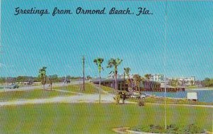 Florida Ormond Beach Looking East At Entrancee And Parkway To Rockefeller Mem...