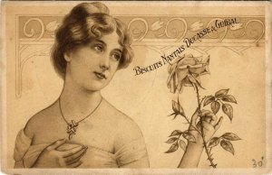 PC CPA ADVERTISING, BISCUITS NATAIS DUCASSE & GUIBAL, VINTAGE POSTCARD (b10005)