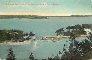 Vintage Postcard; Harrington Sound, Tide Rushing under Flatts Bridge, Bermuda