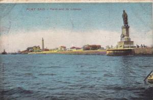 Lighthouse, Ferdinand De Lesseps, Port Said, Egypt, Africa, 1900-1910s
