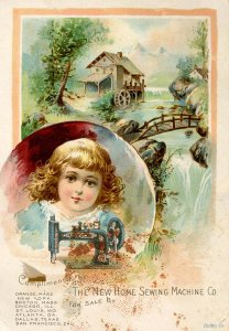 Advertising Trade Card-  The New Home Sewing Machine Co   (5 X 3.5)