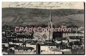 Old Postcard Tarn et Garonne St Antonin Church General view