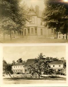 2 RPPC's. Nice Houses (unidentified)
