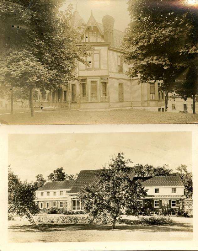 2 RPPC's. Nice Houses (unidentified)
