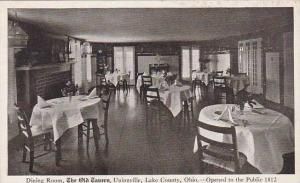 Ohio Lake County Dining Room The Old Cavern Unionville Lake County