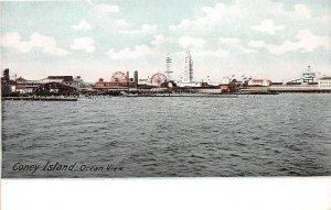 Ocean View Coney Island, New York, USA Amusement Park Unused