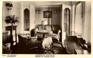 Empress of Australia, Prince of Wales Suite - RPPC