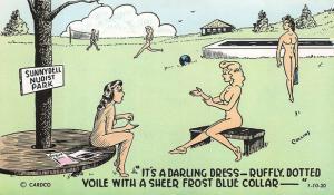Sunnydell Nudist Park American Sunbathers Magazine Nudist Camp 1-10-20  Postcard