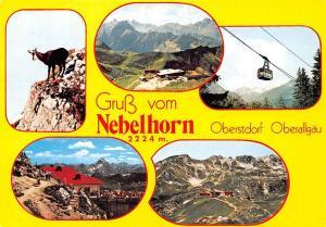 Gruss vom nebelhorn Oberstdorf Berg Goat Mountains Cable Car Panorama