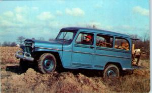 Advertising  JEEP 4 WHEEL DRIVE ~ UTILITY WAGON  Goes Anywhere c1960s Postcard