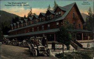 Mount Rainier National Park Inn & Cars c1910 Postcard