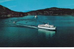 B.C. Ferries QUEEN type ship in Active Pass , B.C. , Canada , 50-60s