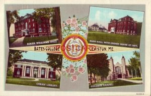 1947 BATES COLLEGE, LEWISTON, ME. four views incl. Rand Hall & Coram Library
