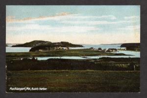 ME Vintage Machiasport Maine Buck's Harbor Houses Postcard UDB PC Carte Postale