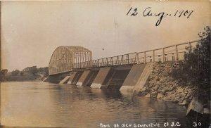 br105614 pont de ste genevieve  canada real photo quebec