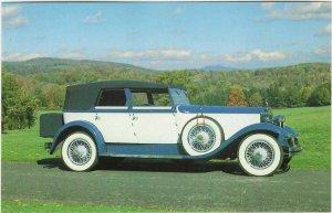 1983 postcard, 1929 Rolls-Royce Phantom, Canfield, Ohio
