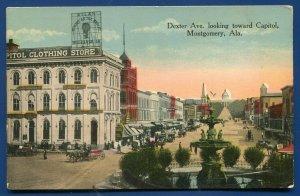 Dexter Avenue looking toward capitol Montgomery Alabama al old postcard