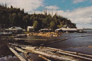 Logging , TELEGRAPH COVE , B.C. Canada , 50-70s