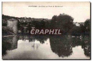 Old Postcard Poitiers Clain at Bridge Rochereuil