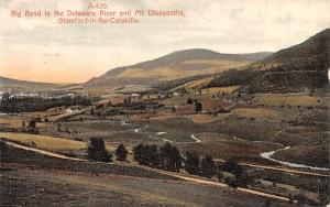 Big Bend of the Delaware River & Mt Utsayantha Stamford, New York Postcard