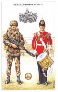 Postcard The British Army Series No.42 Gloucestershire Regiment by Geoff White