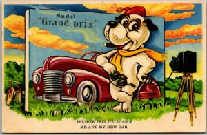 DENMARK DANISH Greetings Postcard Premier Prix D'Elegance - Me & My New Car