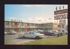SAULT STE. MARIE CANADA COMMODORE MOTOR HOTEL 1960's CARS ADVERTISING POSTCARD