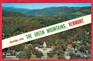 THE GREEN MOUNTAINS OF VERMONT. STATE CAPITOL  SEE SCAN