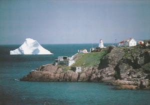 Lighthouse & Ice Berg , ST. JOHN'S , Newfoundland , Canada , 50-70s