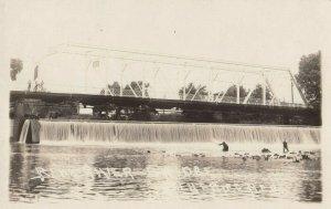 RP: MILFORD , Nebraska, 1900-10s ; Blue River Bridge