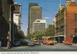 Corner Bourke & Spencer Streets Melbourne Australia Postcard
