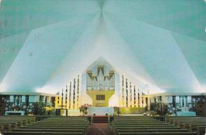 Interior View, Christ-Roi Church, AMOS, Quebec, Canada, PU-1988