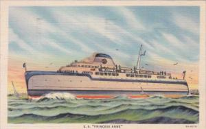 Automobile and Passenger Ferry S S Princess Anne On The Chesapeake Bay 1937