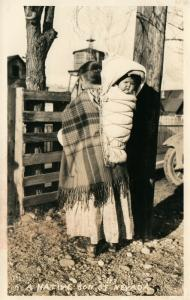 INDIAN PAPOOSE NATIVE SON OF NEVADA1948 VINTAGE REAL PHOTO POSTCARD RPPC