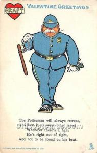 The Policeman will always retreat Vinegar Valentine Unused