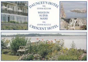 Daunceys Hotel Weston Super Mare Hunt Family Welcome Postcard