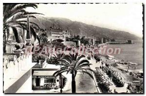 Old Postcard Menton The Promenade and views Beach Casino