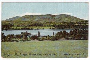 Bridgton, Me, Pleasant Mountain and Highland Lake
