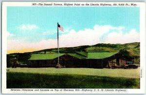 Laramie, Wyoming Postcard SUMMIT TAVERN Highway 30 Roadside Linen c1940s Unused