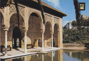 Postal 61011: Partal al fondo Generalife. Alhambra (Granada)