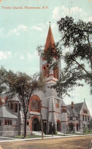 Watertown New York~Trinity Church~1910 Postcard