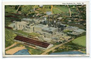 Corn Products Co Factory Pekin Illinois linen postcard