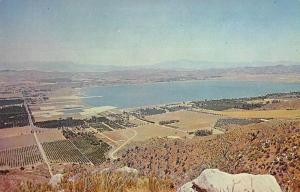 Lake Elisnore California from Ortego Terrace Scenic View Postcard JD933965
