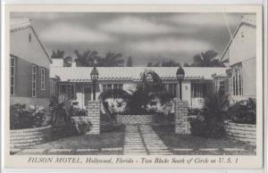 Filson Motel Hollywood Florida FL Front View Roadside USA Vintage Postcard