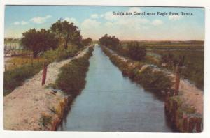 P520 JLs dated 1920 near eagle pass texas irrigation canal scene