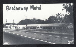 GRAY SUMMIT MISSOURI GARDENWAY MOTEL ROUTE 66 POSTCARD MO.