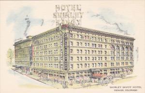 Artist's Sketch, Shirley Savoy Hotel, Denver, Colorado 1930-40s
