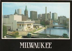 Wisconsin Milwaukee Looking South Along Milwaukee River Showing Skyline Perfo...